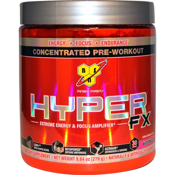 BSN, Hyper-FX, Extreme Energy & Focus Amplifier, Watermelon, 9.84 oz (279 g)