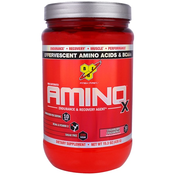 BSN, Amino-X, Endurance & Recovery Agent, Strawberry Dragonfruit, 15.3 oz (435 g)