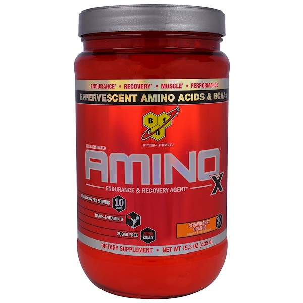 BSN, Amino-X, Endurance & Recovery Agent, Strawberry Orange, 15、3 oz (435 g)