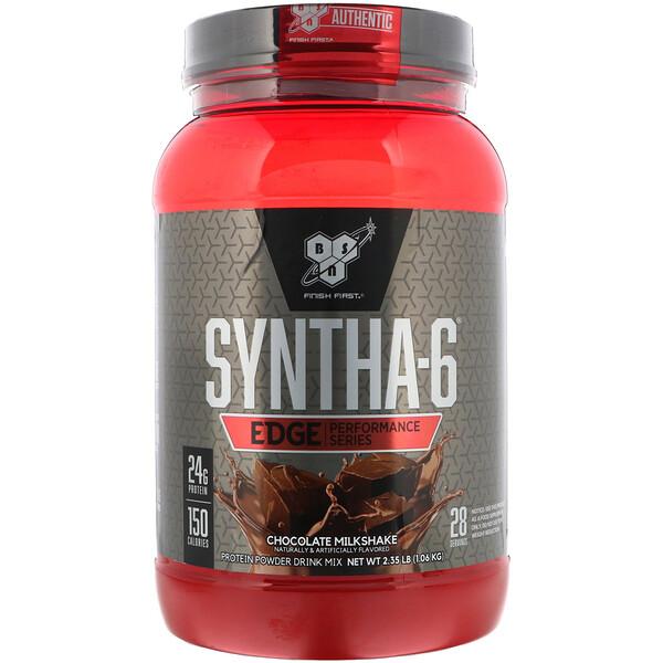 BSN, Syntha-6 Edge, Protein Powder Drink Mix, Chocolate Milkshake, 2.35 lb (1.06 kg)