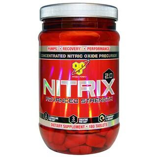 BSN, Nitrix 2.0, Konzentrierte Stickstoffoxidvorstufe, 180 Tabletten
