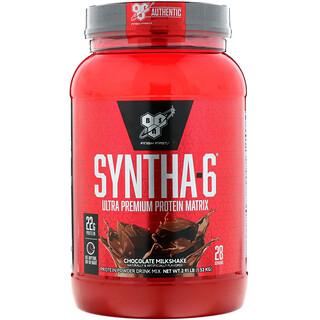 BSN, Syntha-6, белковая матрица ультра-премиум, шоколадный молочный коктейль, 1,32 кг (2,91 фунта)