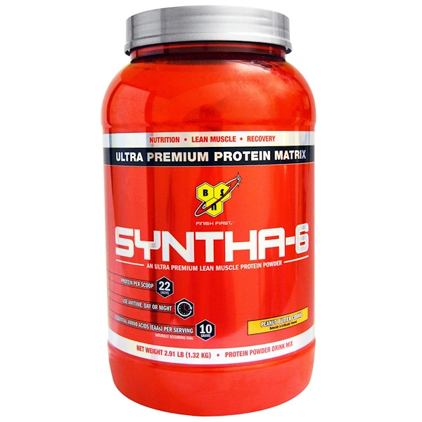 BSN, Syntha-6, Protein Powder Drink Mix, Peanut Butter Cookie, 2.91 lbs (1.32 kg) (Discontinued Item)