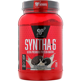 BSN, Syntha-6، مصفوفة البروتين فائقة الجودة، كعكات وكريمة، 2.91 رطل (1.32 كجم)