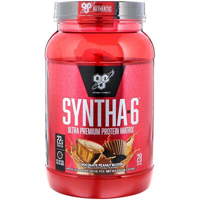 BSN Syntha-6, белковый порошок наивысшего качества для сухой мышечной массы, со вкусом шоколада и арахисового масла, 2,91 фунта (1,32 кг)