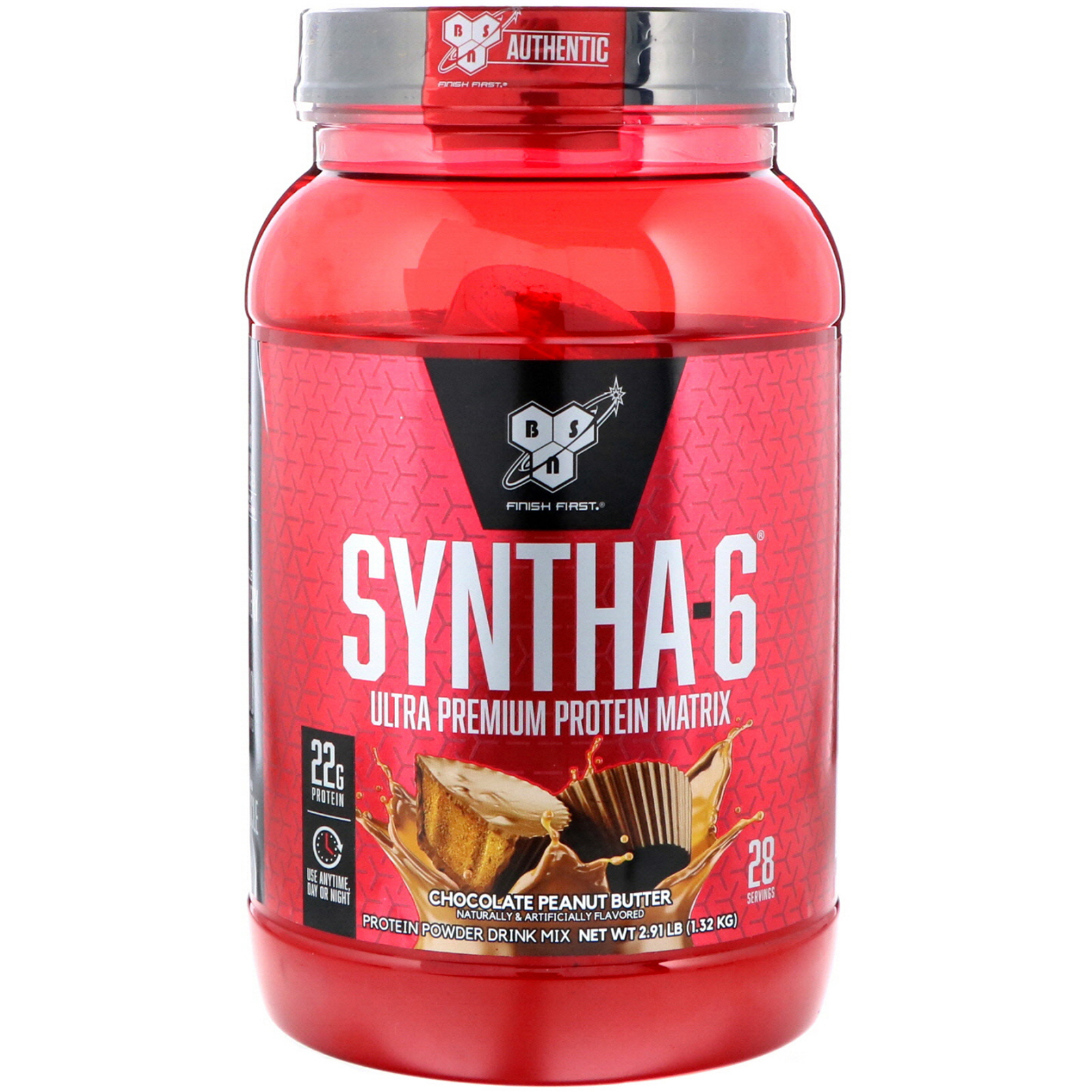 Bsn Syntha 6 Ultra Premium Protein Matrix Chocolate Peanut Butter 2 91 Lbs 1 32 Kg Iherb