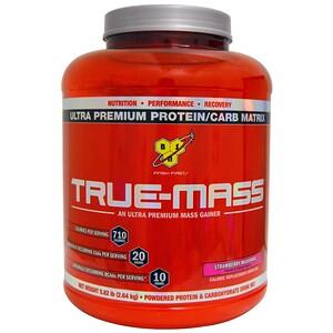 БСН, True-Mass, Ultra Premium Protein/Carb Matrix, Strawberry Milk Shake, 5.82 lbs (2.64 kg) отзывы покупателей