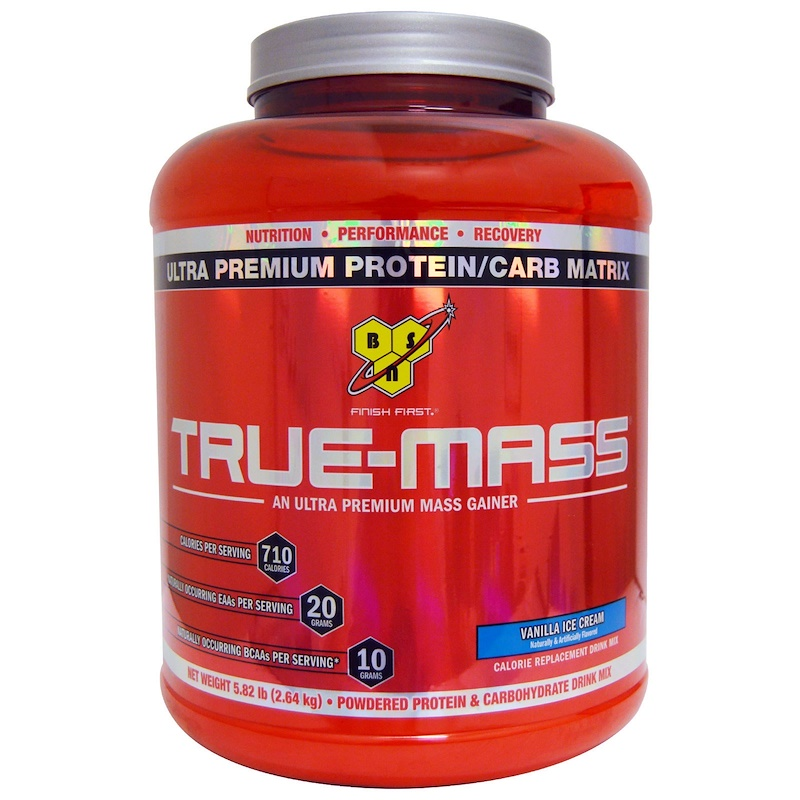 True Mass, Ultra Premium Protein/Carb Matrix, Vanilla Ice Cream, 5.82 lbs (2.64 kg)