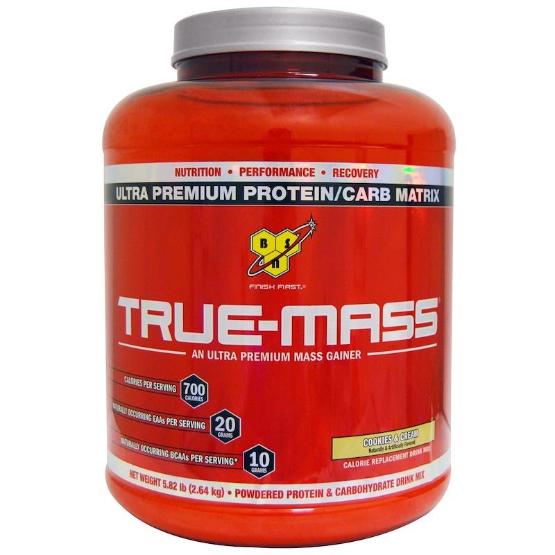 True-Mass, Ultra Premium Protein/Carb Matrix, Cookies & Cream, 5.82 lbs (2.64 kg)