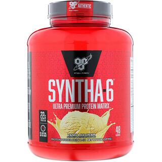 BSN, Syntha-6, mezcla proteínica en polvo para bebida, helado de vainilla, 5.0 lbs (2.27 kg)