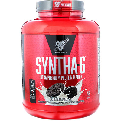 Купить BSN Syntha-6, заменитель пищи / добавка, печенье и сливки, 5, 04 фунта (2, 29 кг)