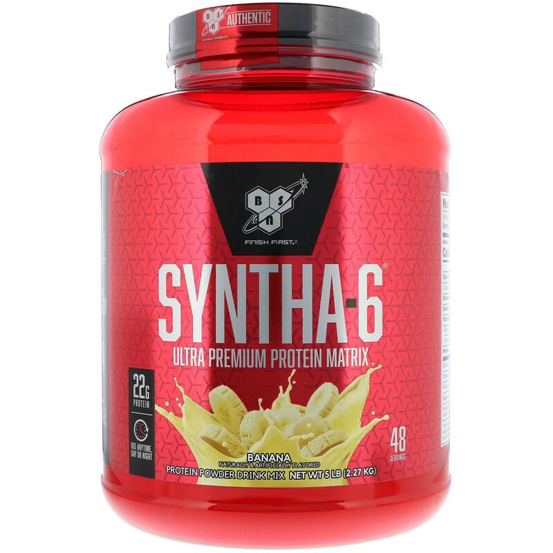 Syntha-6, Ultra Premium Protein Matrix, Banana, 5 lb (2.27 kg)