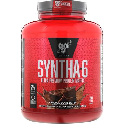 Фото - Протеин Синта-6, ультра-премиум белковая матрица, со вкусом шоколадного кекса, 5 фунтов (2,27 кг) sport белковая смесь премиум качества со вкусом ягод 801 г 28 3 унции