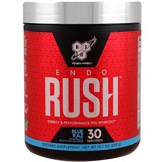 BSN, ENDORUSH, Pre-Workout, Blue Raz, 13.7 oz (390 g)