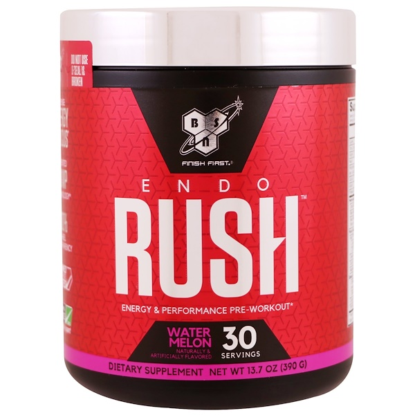 BSN, Endorush, добавка для приема перед тренировкой с ароматом арбуза, 390 г (13,7 унции) (Discontinued Item)