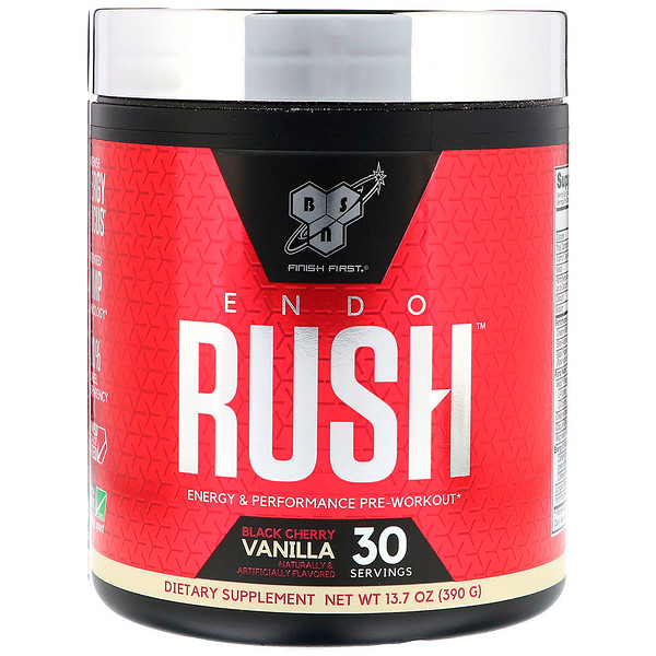 BSN, Endorush, Pre-Workout, Black Cherry Vanilla, 13.7 oz (390 g) (Discontinued Item)