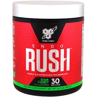BSN, ENDORUSH, Pre-Workout, Sour Candy, 14.3 oz (405 g)