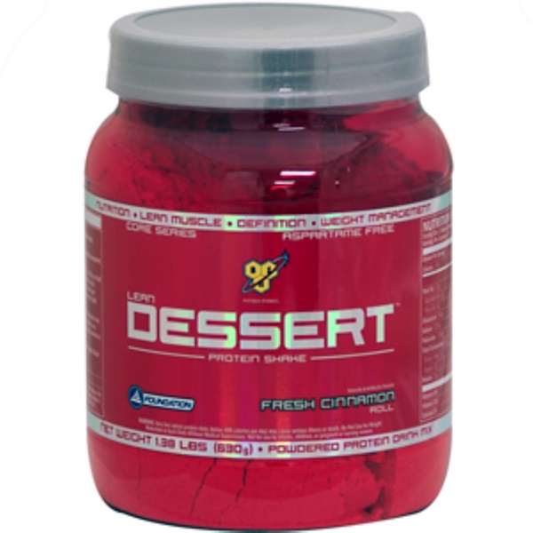 BSN, Lean Dessert Protein Shake, French Cinnamon Roll, 1.39 lbs (630 g) (Discontinued Item)