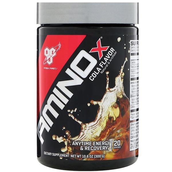 BSN, アミノX、コーラ味、10.6 oz (300 g)