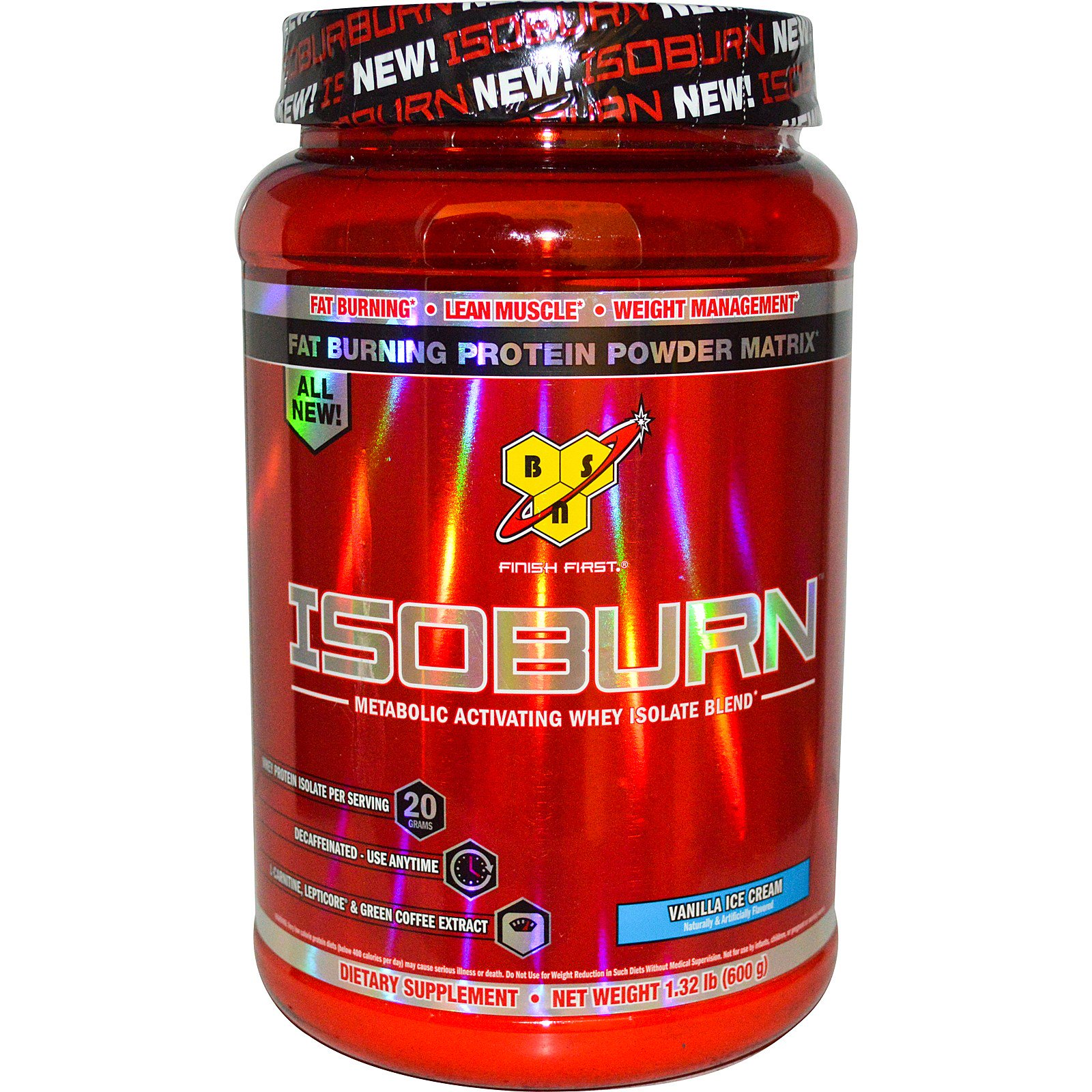 bbb263f69 BSN Isoburn Metabolic Activating Whey Isolate Blend Vanilla Ice ...
