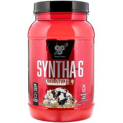 BSN Syntha-6 Cold Stone Creamery, Birthday Cake Remix 2.59 lb (1.17 kg)