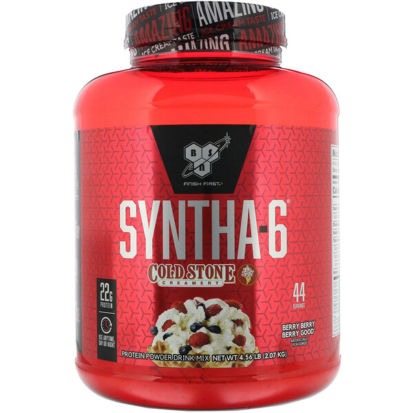 BSN, Syntha-6, Cold Stone Creamery, Berry Berry Berry Good, 2.07kg(4.56lb) (Discontinued Item)