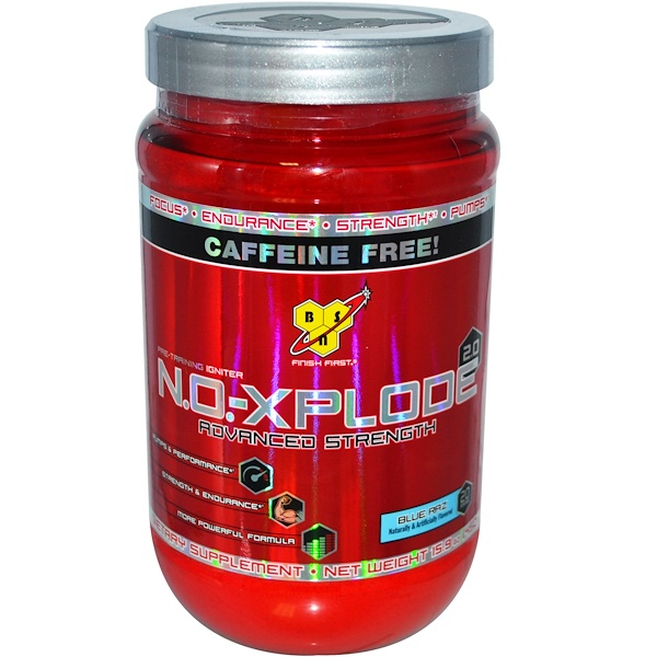 BSN, N.O.-Xplode 2.0, Pre-Training Igniter, Advanced Strength, Blue Raz, 15.9 oz (450 g) (Discontinued Item)