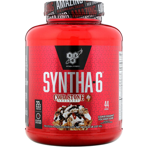 BSN, Syntha-6, Cold Stone Creamery, saveur cookie, 2,07 kg