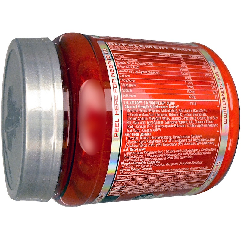 BSN, N.O.-Xplode 2.0, Pre-Training Igniter, Cherry Limeade, 1.48 lb (675 g) - photo 1