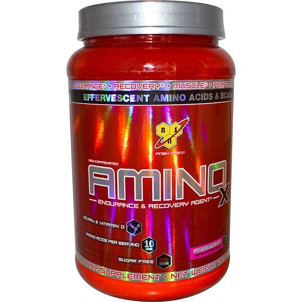 BSN, AminoX,耐力和恢復劑,不含咖啡因,西瓜味,2、23磅(1、01千克)