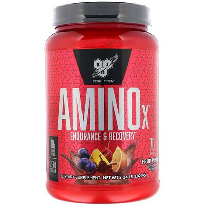 Фото - Формула с аминокислотами Amino-X, выносливость и восстановление, фруктовый пунш, 1,01 кг (2,23 фунта) cell tech hyper build фруктовый пунш 485 г 1 07 фунта