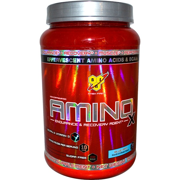 BSN, AminoX, Endurance & Recovery Agent, Non-Caffeinated, Blue Raz, 2.23 lb (1.01 kg)