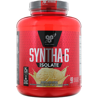 BSN, Syntha-6 Isolate, Protein Powder Drink Mix, Vanilla Ice Cream, 4.02 lbs (1.82 kg)