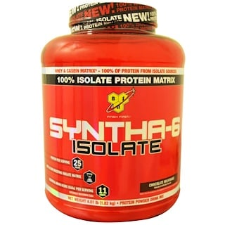 BSN, Syntha-6 Isolate, Protein Powder Drink Mix, Chocolate Milkshake, 4.01 lbs (1.82 kg)