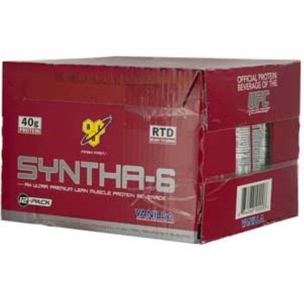 BSN, Syntha-6, Meal Replacement or Addition, Vanilla, 12-Pack, 16.9 oz (500 ml) Each (Discontinued Item)