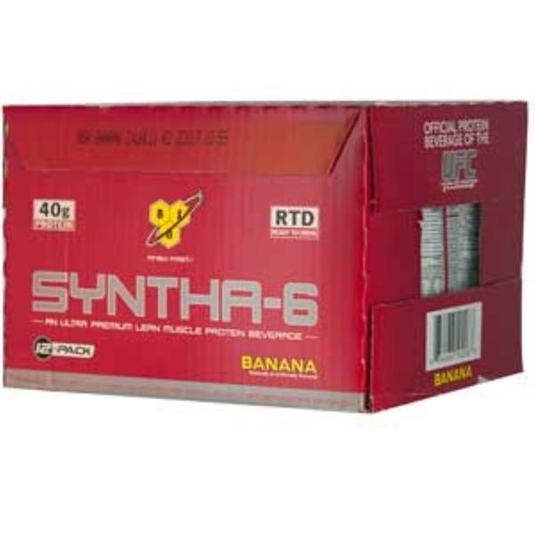 BSN, Syntha-6, An Ultra Premium Lean Muscle Protein Beverage, Banana, 12-Pack, 16.9 fl oz (500 ml) Each (Discontinued Item)