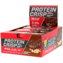 BSN, Protein Crisp, Chocolate Crunch Flavor, 12 Bars, 2.01 oz (57 g) Each