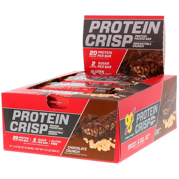 Protein Crisp, Chocolate Crunch Flavor, 12 Bars, 2.01 oz (57 g) Each
