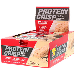 БСН, Protein Crisp, Vanilla Marshmallow, 12 Bars, 1.97 oz (56 g) Each отзывы покупателей