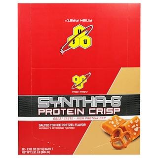 BSN, Syntha-6 Protein Crisp, Salted Toffee Pretzel Flavor, 12 Bars, 2.01 oz (57 g)