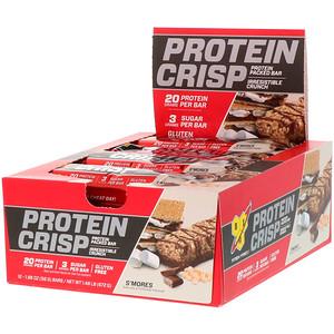БСН, Protein Crisp, S'mores Flavor, 12 Bars, 1.98 oz (56 g) отзывы покупателей