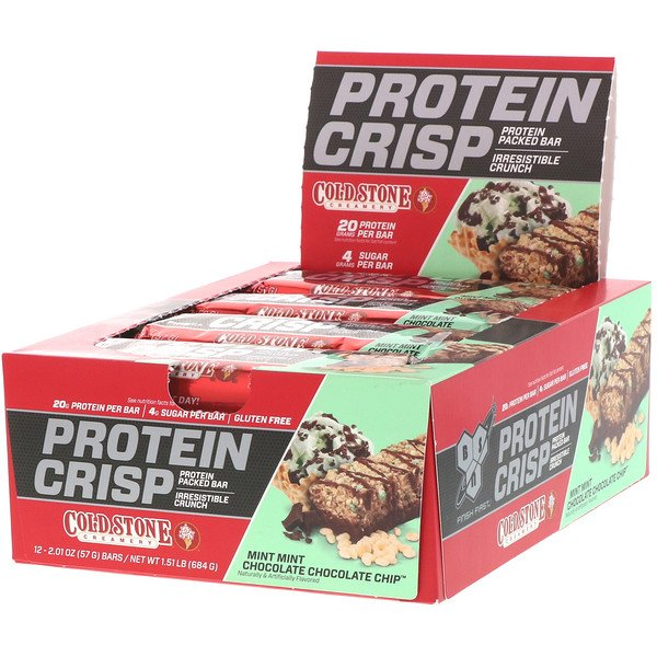 Protein Crisp, Mint Mint Chocolate Chocolate Chip, 12 Bars, 2.01 oz (57 g) Each
