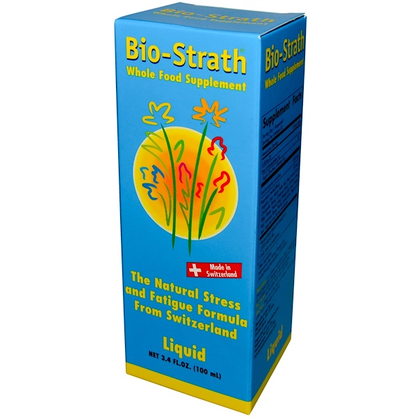 Bio-Strath, Whole Food Supplement, Stress & Fatigue Formula, 3.4 fl oz (100 ml) Liquid