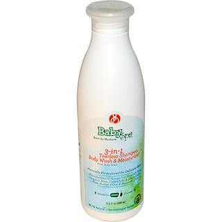 BabySpa, Champú 3 en 1 que no produce lágrimas, gel para baño y humectante, recién nacido en fase 1, aroma fresco a  bebé, 13.5 fl. Oz (400 ml)