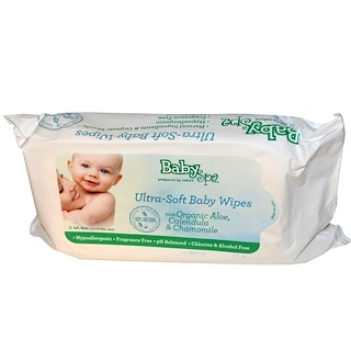 BabySpa, Ultra-Soft Baby Wipes, Fragrance-Free, 72 Wipes