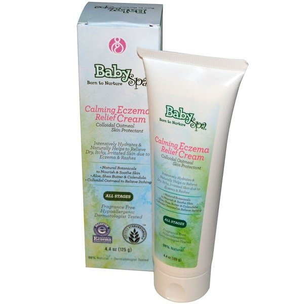 BabySpa, Calming Eczema Relief Cream, Fragrance Free, 4.4 oz (125 g)