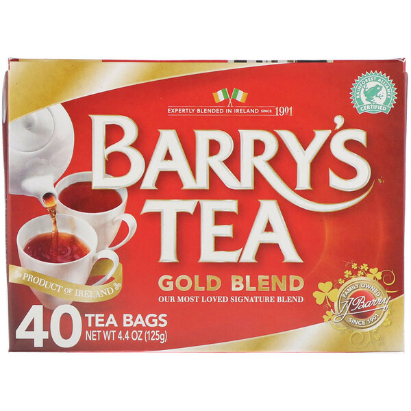Barry's Tea, Gold Blend, 40 Tea Bags, 4.4 oz (125 g)