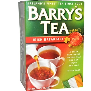 Barry's Tea, Irish Breakfast Tea, 40 Tea Bags, 4.40 oz (125 g)