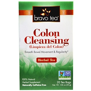 Bravo Teas & Herbs, Inc., Colon Cleansing, Herbal Tea, 20 Tea Bags, 1.06 oz (30 g)