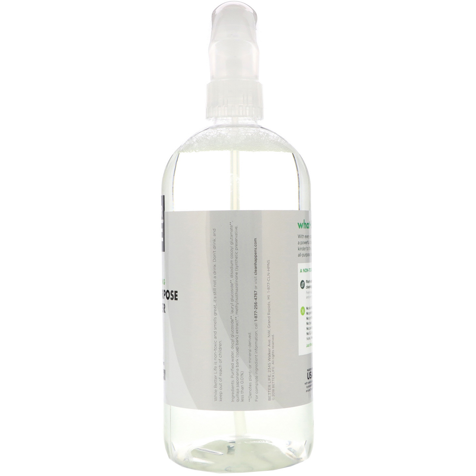 Better Life All Purpose Cleaner Unscented 32 Fl Oz 946 Ml